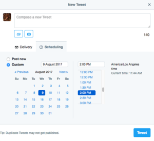 Scheduling Senior Living Tweets